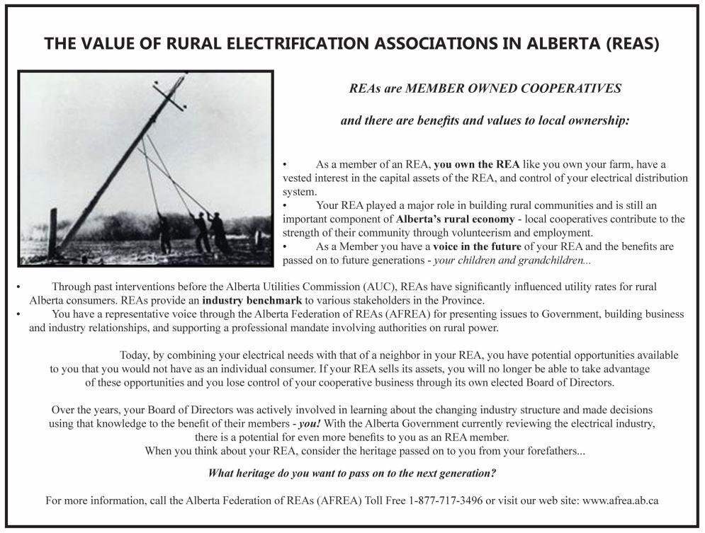 The Value of Rural Electrification Associations in Alberta